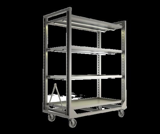 LED Grow Rack, stainless steel