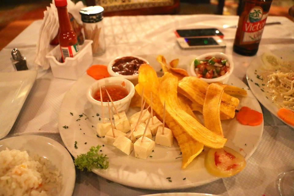 Tajadas con queso un aperitivo único en Nicaragua