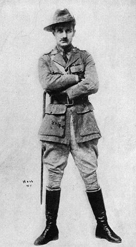 Frfitz disguised as Captain Claude Staughton, 1917
