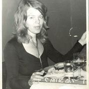 Author Mary Reinholz in New York during the 1970s at The Blue Angel, a renowned nightclub