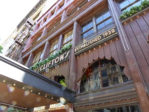 Clifton's Cafeteria Exterior