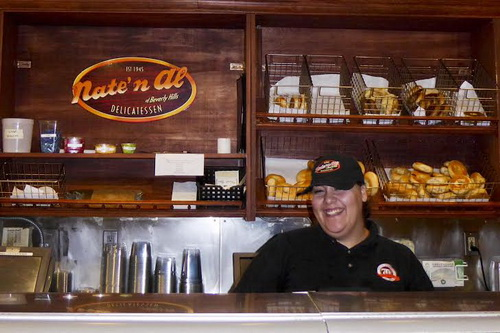 Ashley working the Deli counter (Barry Stein photo)