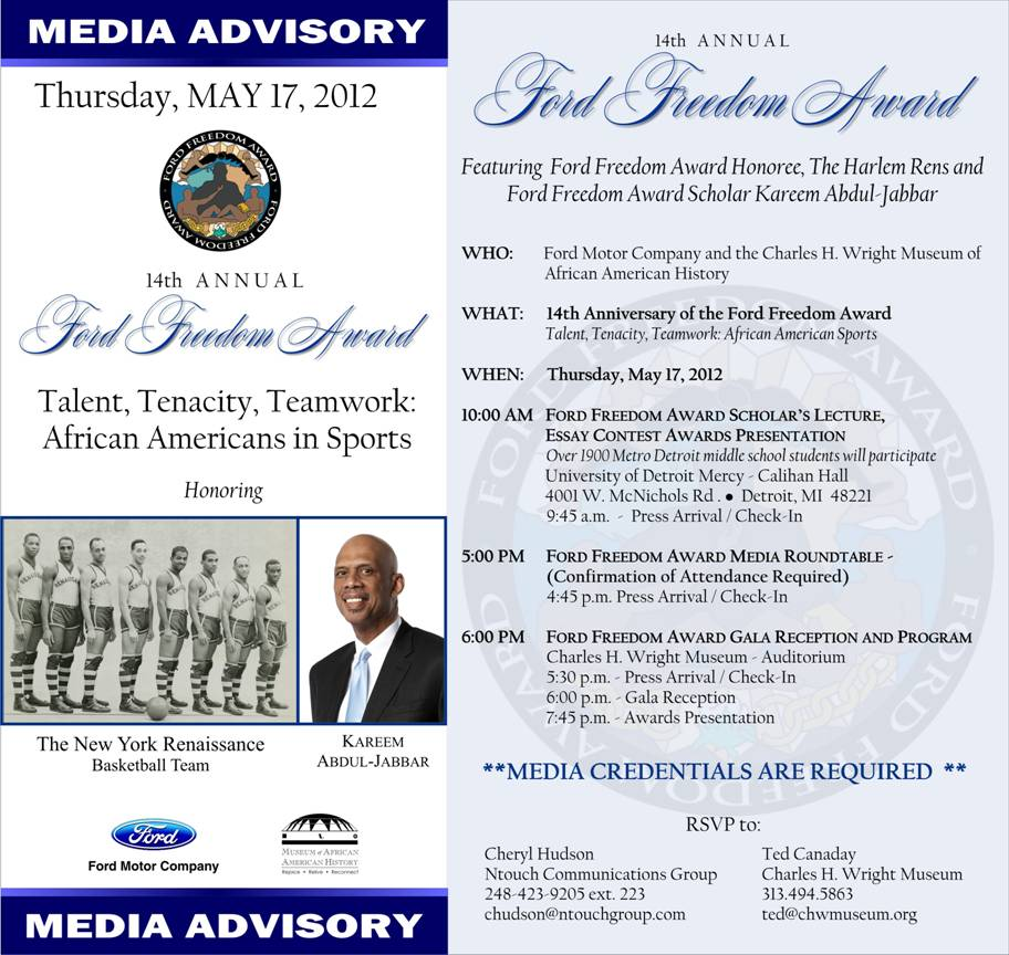 Ford Freedom Award 2012 - Kareem Abdul-Jabbar