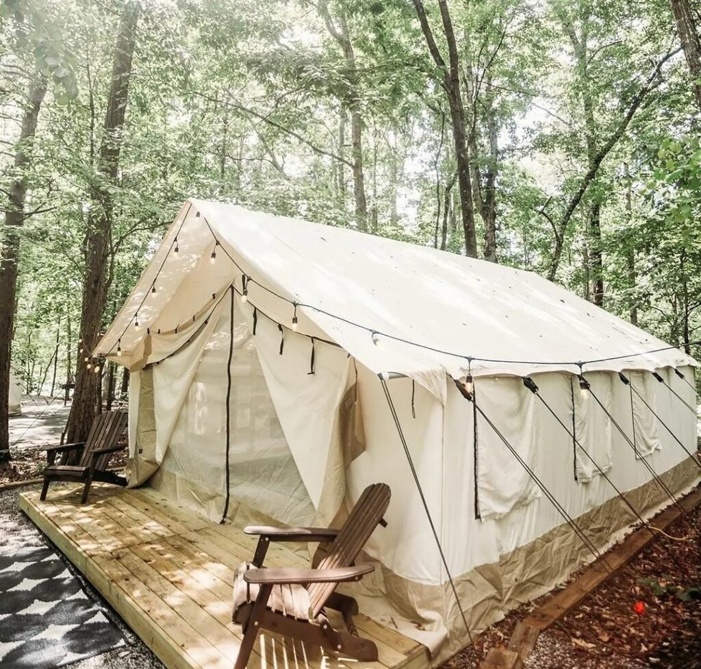Outdoors - Tent and chair