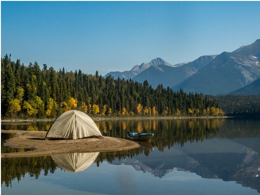 Lake Camping With Wall Tent 1