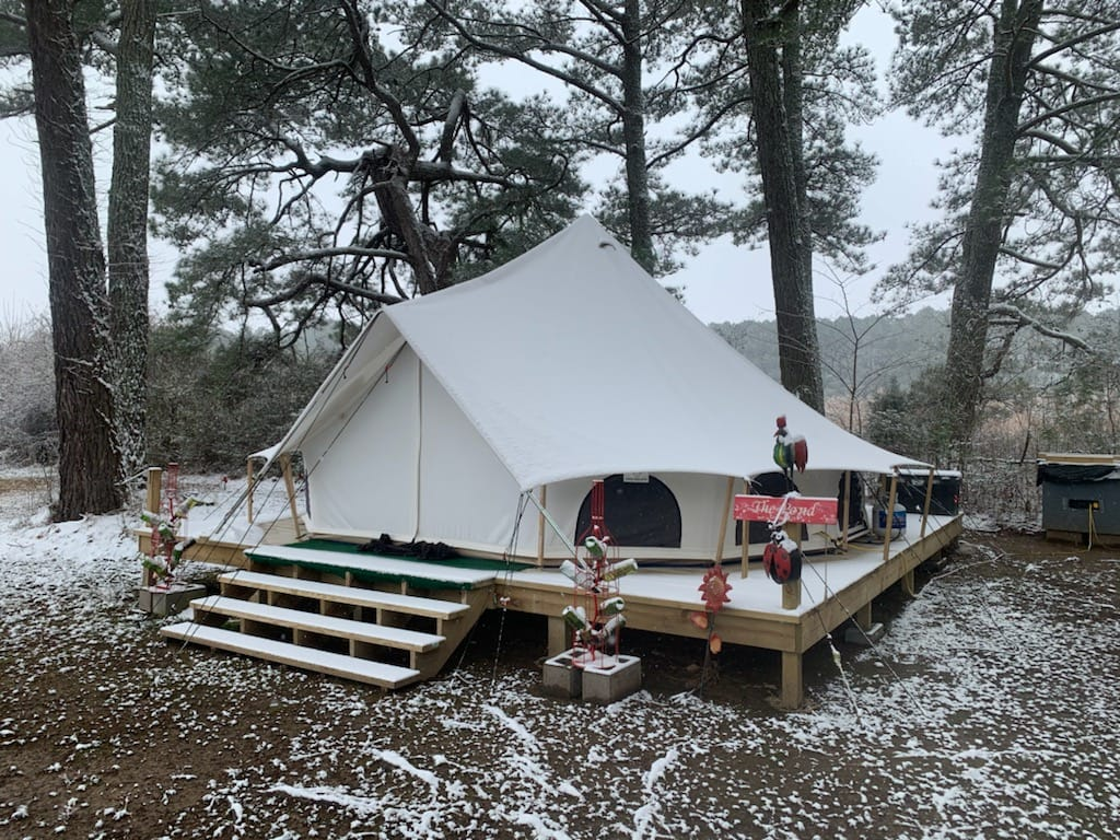 glamping tent bell tent outdoors nature platform camping glamping