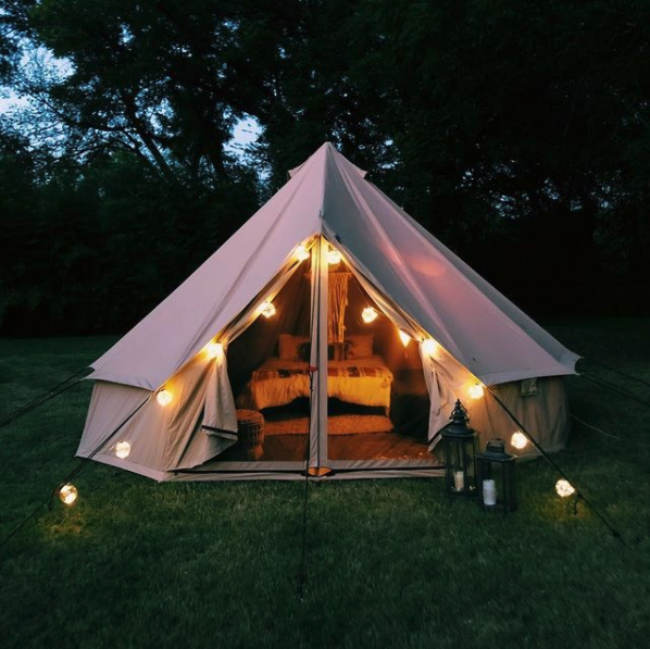 canvas tent camping glamping hunting tent outdoors