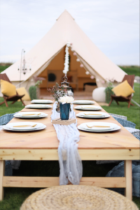 Wedding in a tent