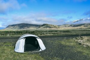 camp mountains iceland scenic