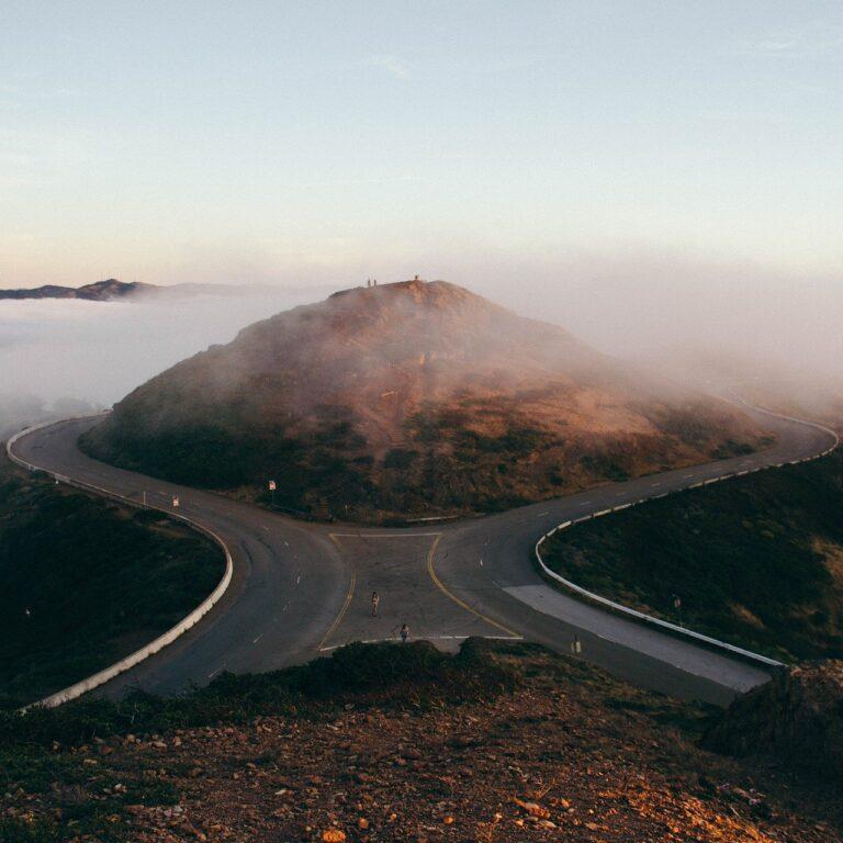 forking road, split road, travel