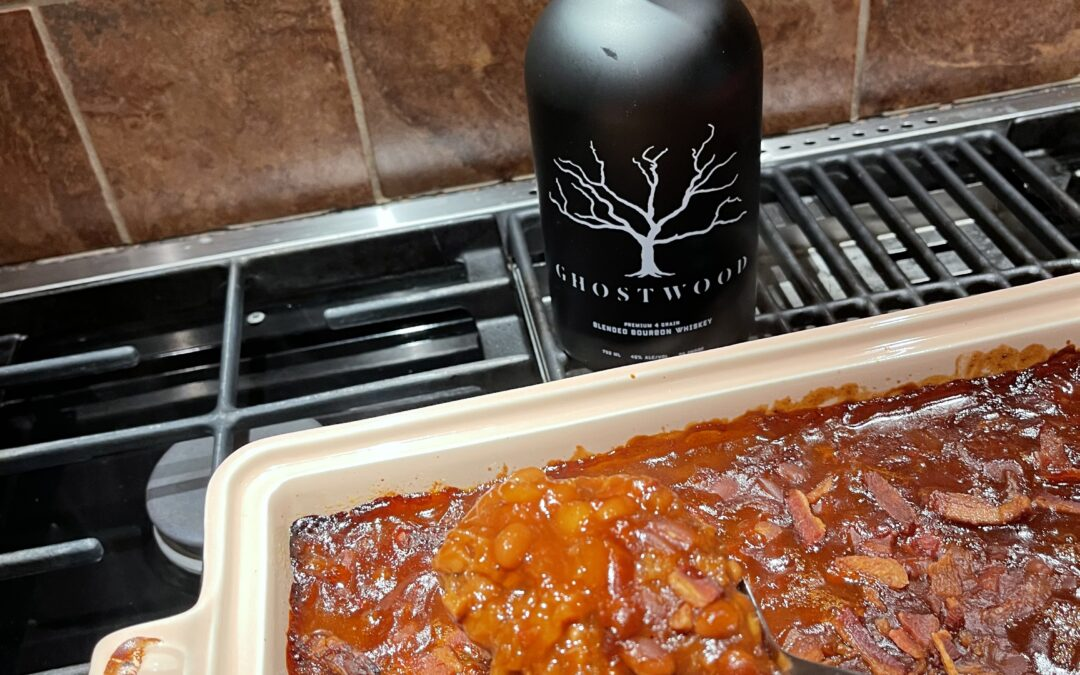 Sweet and Spicy GHOSTWOOD Baked Beans