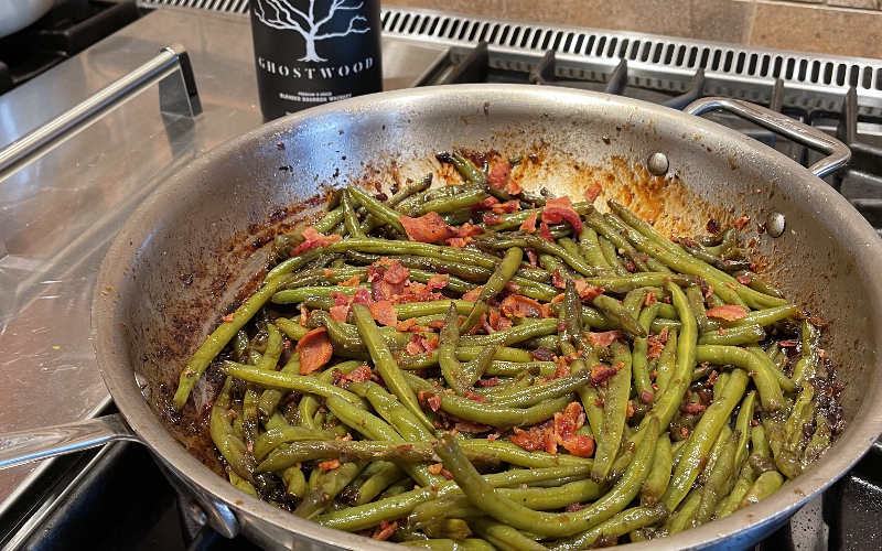 GHOSTWOOD Green Beans with Bacon