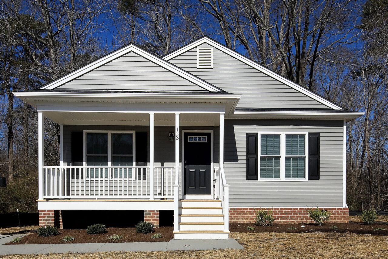 Habitat for Humanity home exterior in Williamsburg