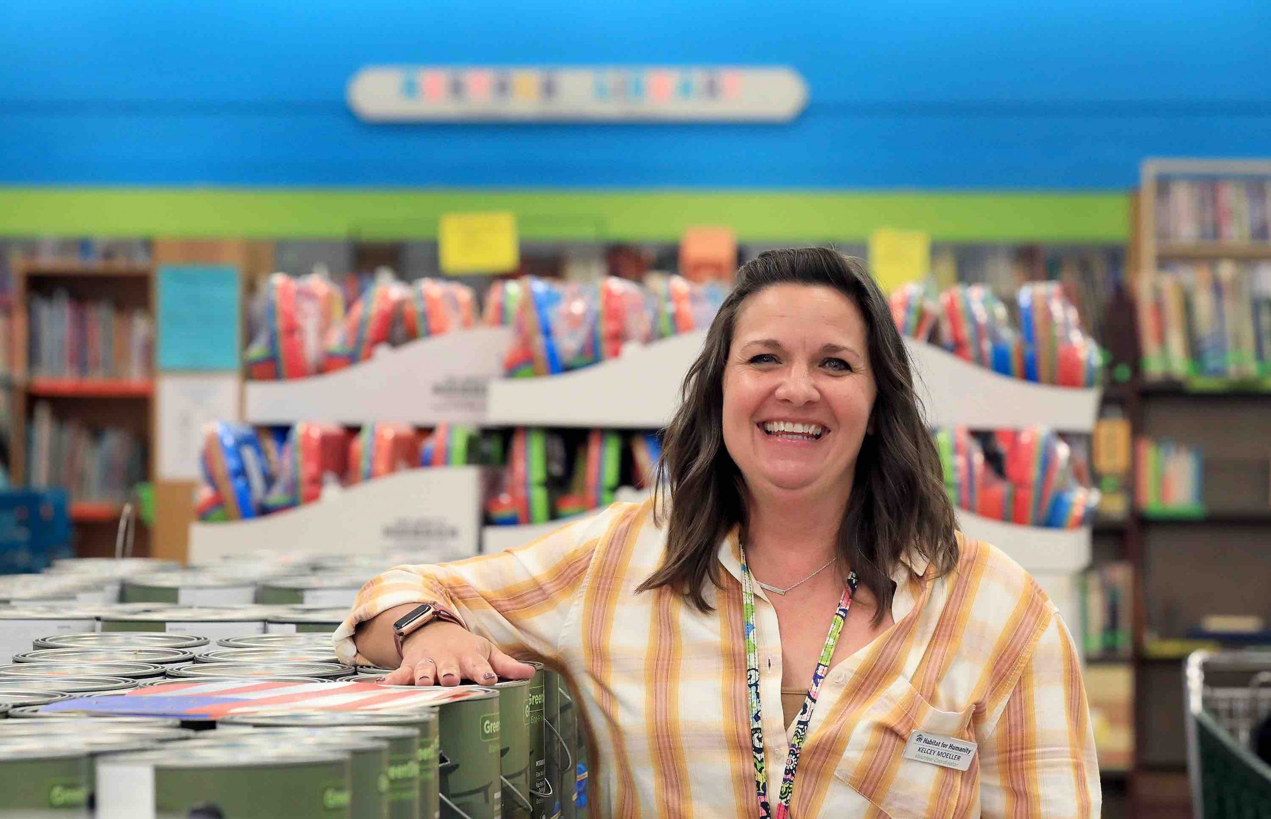 The new volunteer coordinator at the Williamsburg ReStore Kelcey Moeller Thursday August 5, 2021.