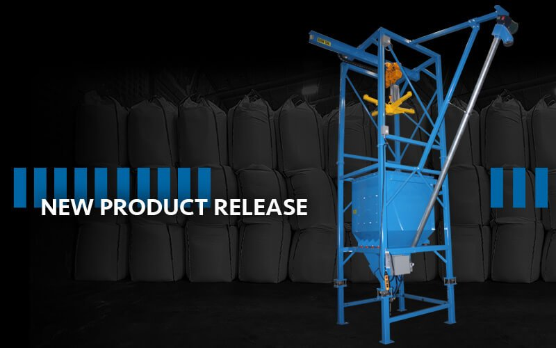 Material Master® V-Knife Discharger with Rigid Screw Conveyor and Scale System