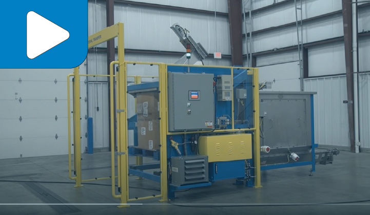 Lift & Seal Container Discharging & Feeding System