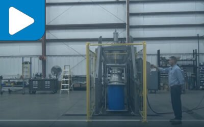 Material Transfer & Storage: Lift & Seal Direct Lift Drum Dumper