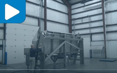 Stainless Steel Container Discharging System With 7,500# Capacity