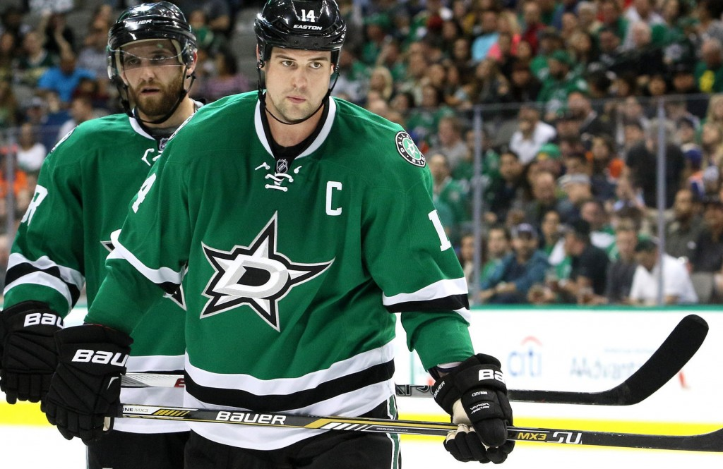 Jamie Benn leads the NHL with goals (8) and tied for 1st with points (12). Photo Courtesy: Dominic Ceraldi