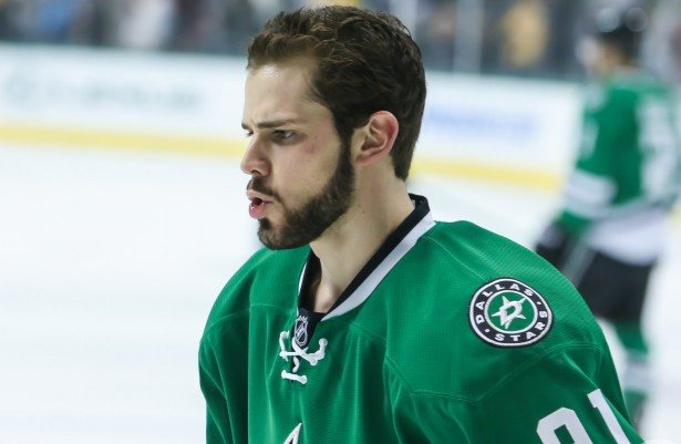Tyler Seguin adds another tool to his multi-utility belt…fighting. The Stars centerman recorded his first fight and Gordie Howe hat trick on Saturday against the Avalanche. Photo Courtesy: Annie Devine