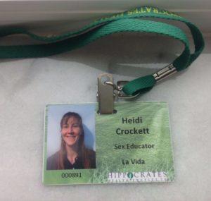 Heidi name badge pic
