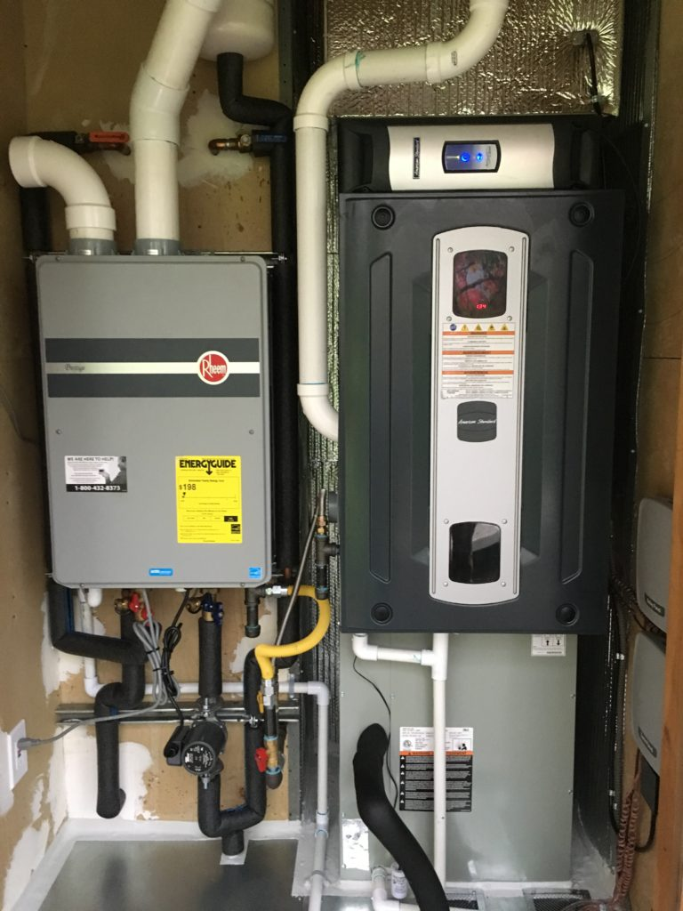 ... endless hot water when desired, no wasted when not. And year-round comfort & IAQ taken to a higher standard!