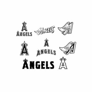 Los Angeles Angels SVG, DXF and EPS Cutting Files Silhouette vinyl cut Files, for Cameo and Cricut Explore machines