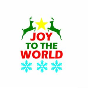 Joy to the World svg files, Christmas svg, Digital cut file, winter svg, Merry Christmas svg, Word and Phase svg, Reindeer svg, Snowflake svg
