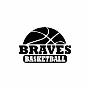 Braves Basketball svg, basketball shirts, basketball inspiration, cutting file, svg, dxf, eps, Cricut Design Space, Cameo Silhouette Studio