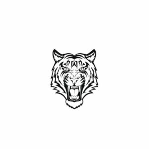 Tigers svg files, Tiger face svg, Tiger face svg, College SVG File Cutting, DXF, EPS design, cutting files for Silhouette Studio and Cricut Design space
