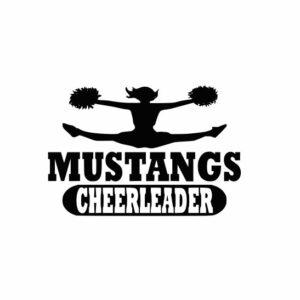 Mustangs Cheerleader svg, Cheerleader svg, Cheer svg, Cheer Images cut file include one zip file with Svg, Dxf, Eps, Jpeg Files