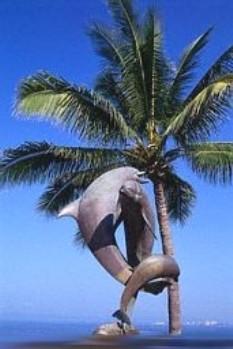 Vallarta rentals and Sales - dolphin statue