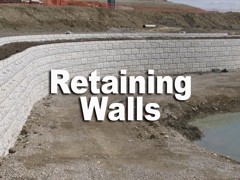 retaining walls 222