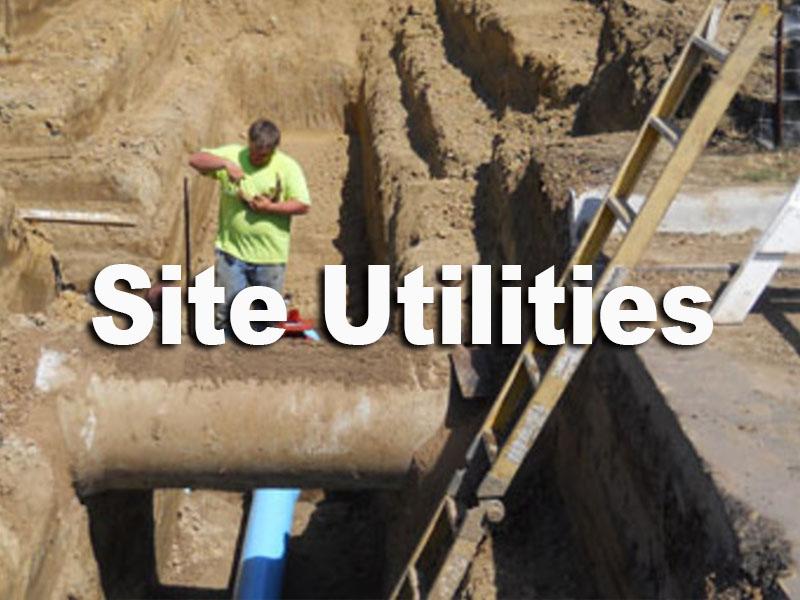 site utilities 222