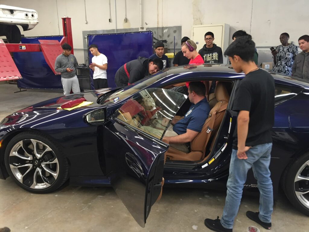 Kids at the Conroe high-school Auto-tech program went crazy for the Lexus LC500h