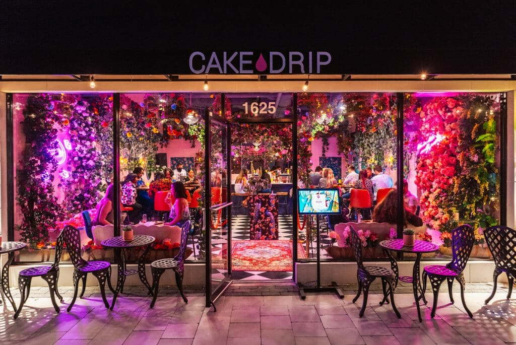 cake drip night photo Hyde Park