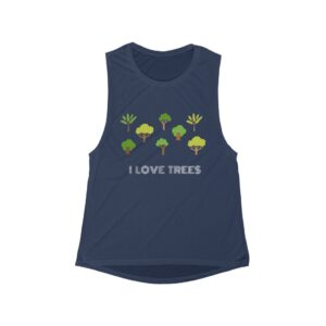'I Love Trees' Women's Flowy Scoop Muscle Tank