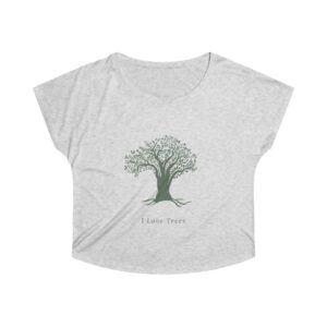 'I Love Tree's' Women's Tri-Blend Dolman