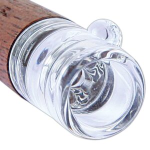 Wooden One Hitter with Glass Tip