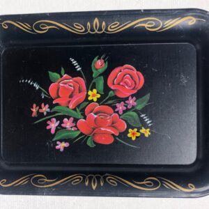Small Vintage Floral Rolling Tray