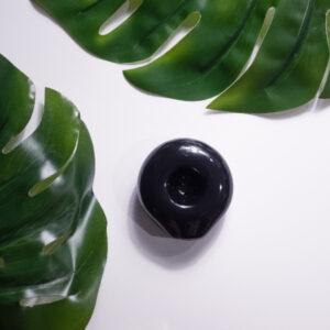 Gloss Ceramic Circle Smoking Pipe in 5 Colors