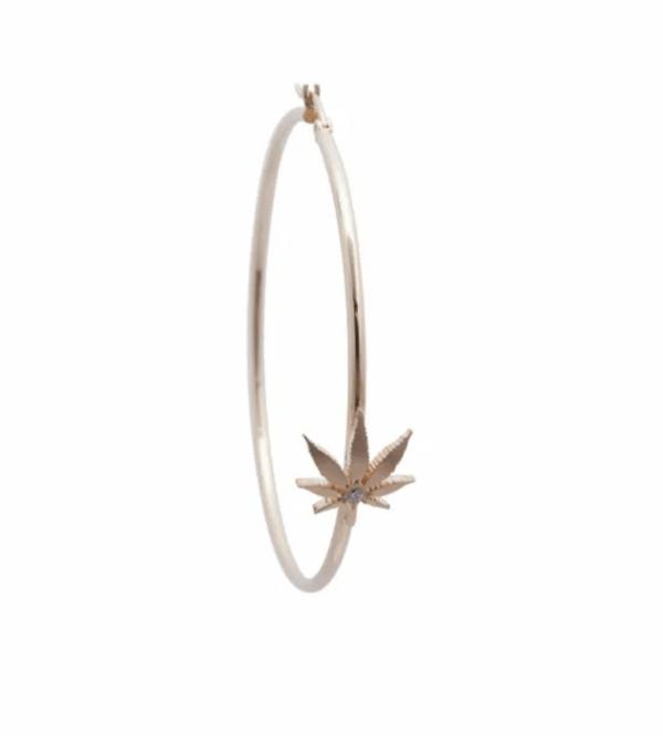 Luxury Cannabis Hoop Earrings