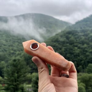 Crystal Pipe | Orange Jade