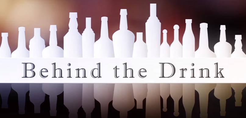 behind the drink