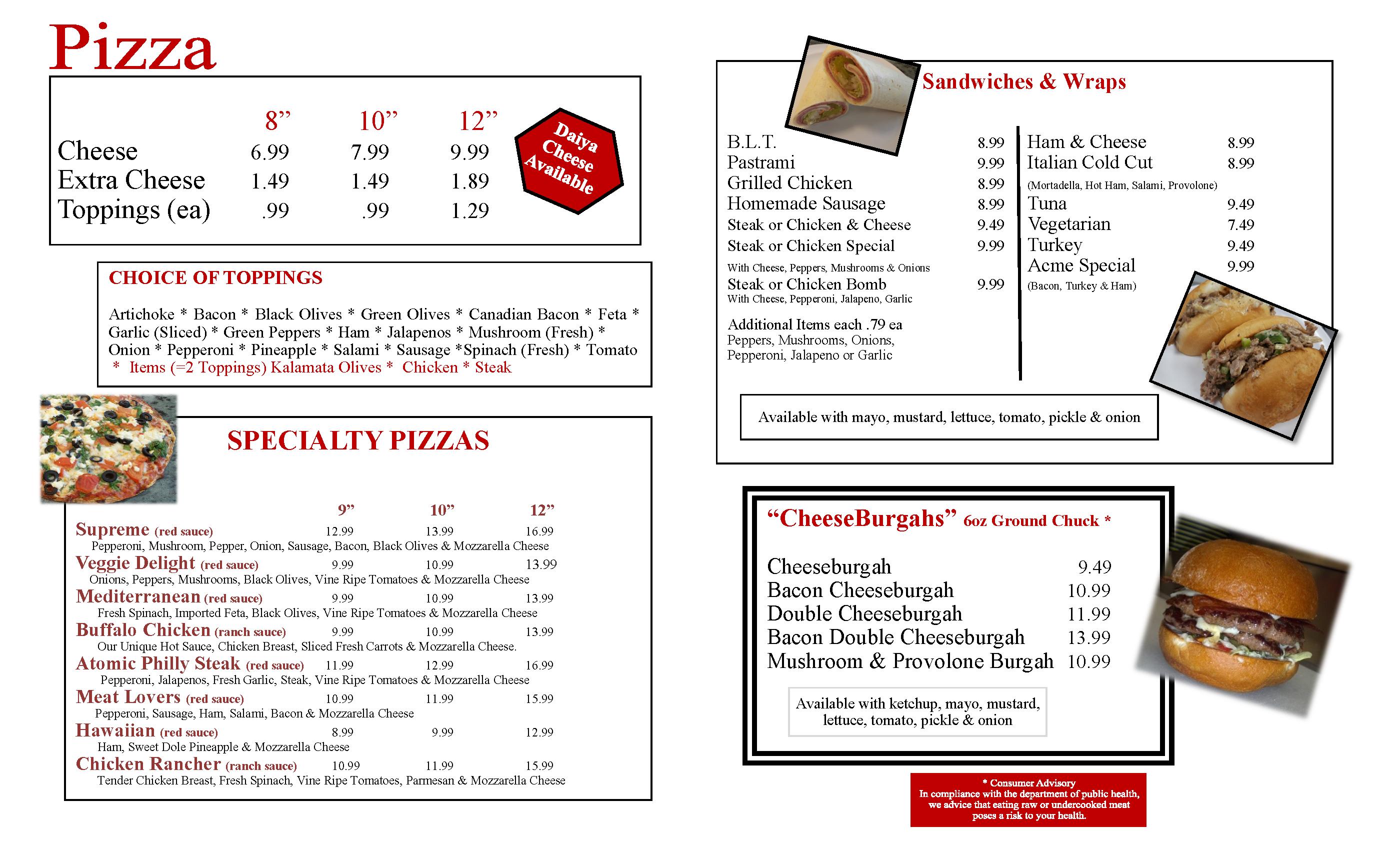 Gluten Free Menu 2020 Page 2