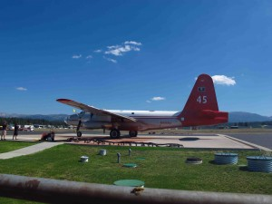 DC3 filled with fire retardent sm