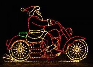 santa motorcycle
