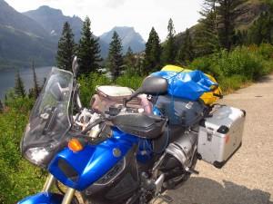 Glacier-bike-backdrop loaded bike