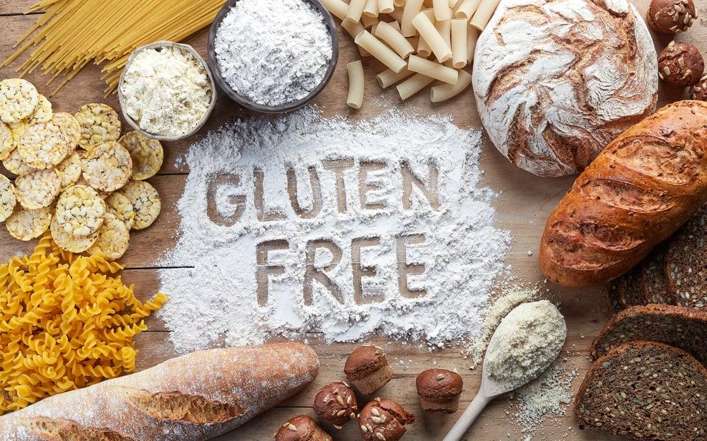 Gluten,Free,Food.,Various,Pasta,,Bread,,Snacks,And,Flour,On