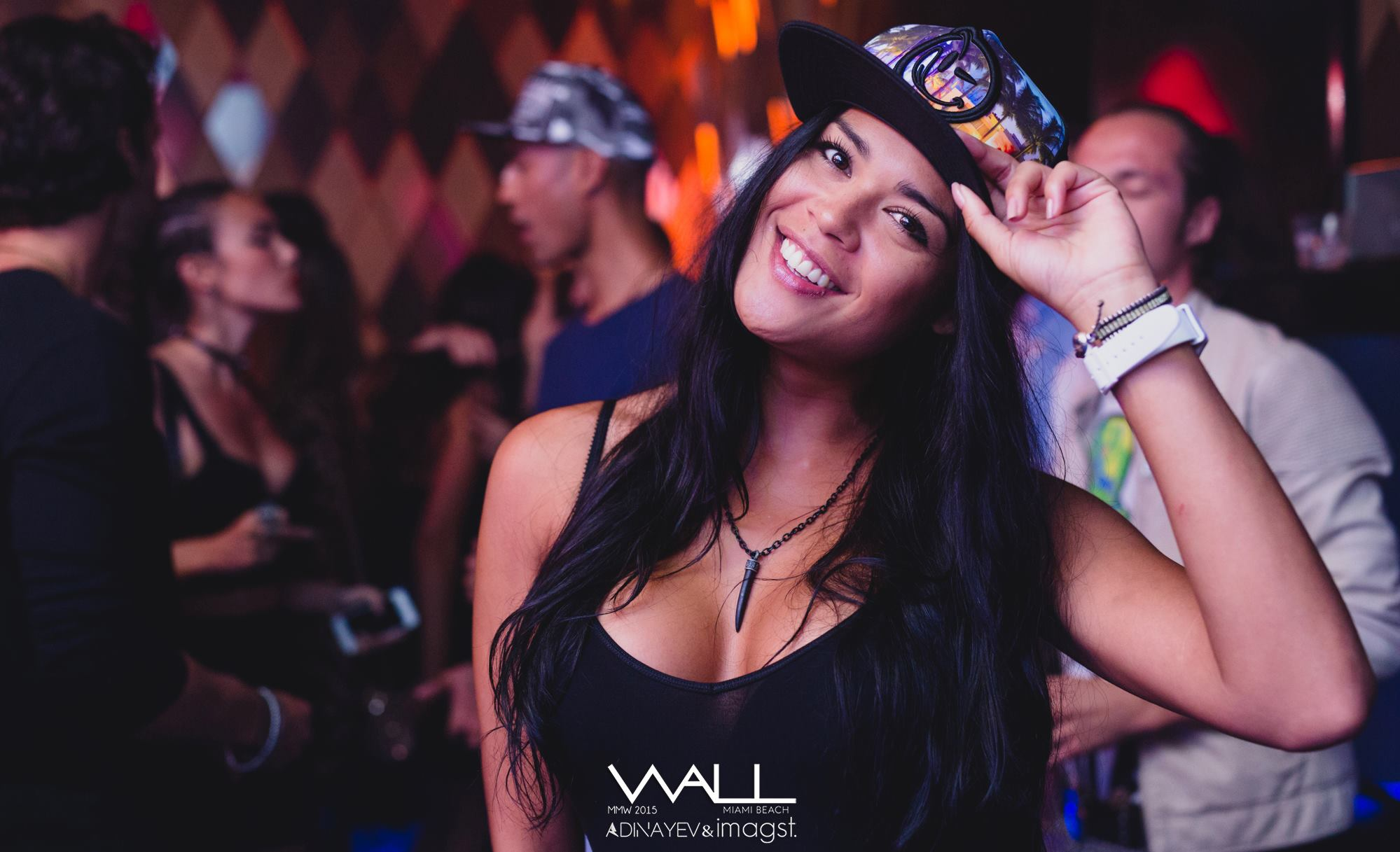 Hot girls in Miami club